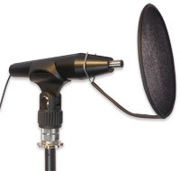 Mic Holder with Microphone and Popshield